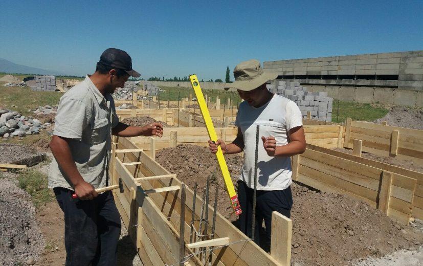 идет строительство домов
