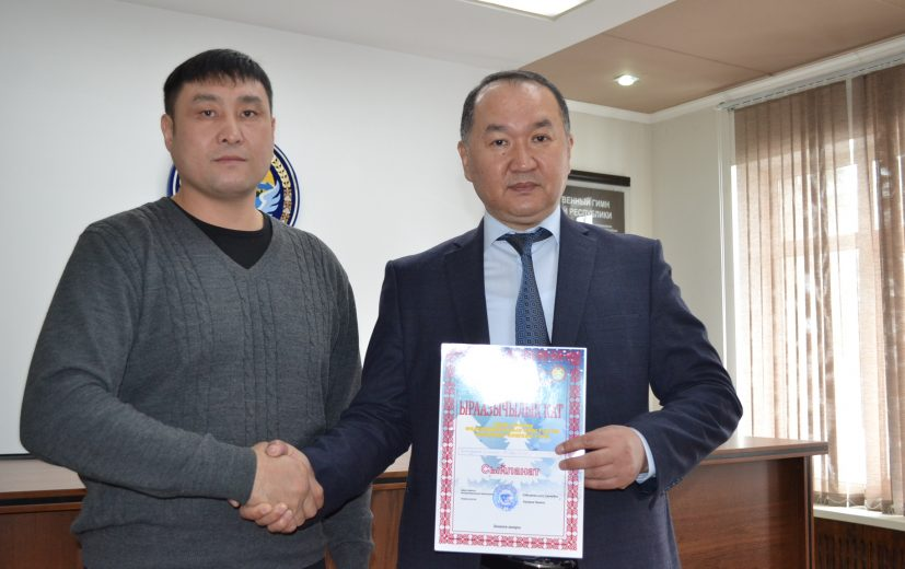 Благодарность мэру Данияру Шабданову за постоянную помощь