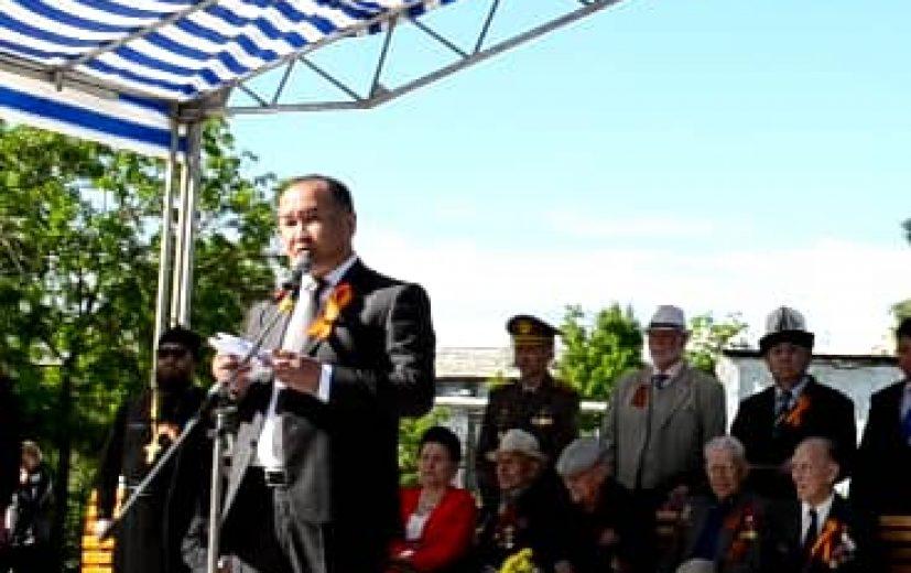мэр города Кара-Балта Данияр Шаданов