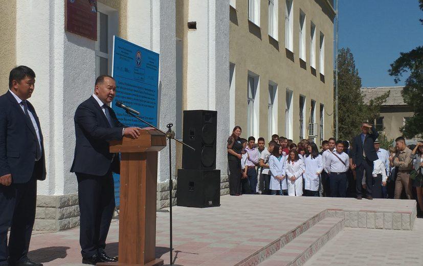 Поздравительная речь мэра Данияра Шабданова