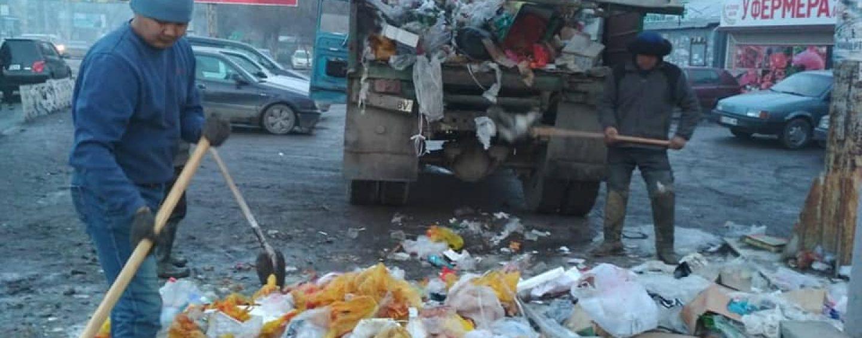 (Русский) Санитарная очистка муниципальной территории г. Кара-Балта