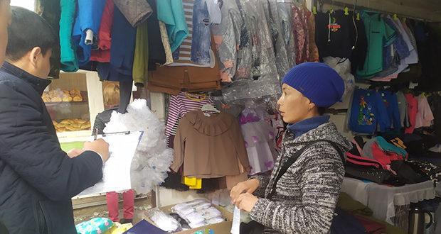 Стихийная торговля на рынках г.Кара-Балта