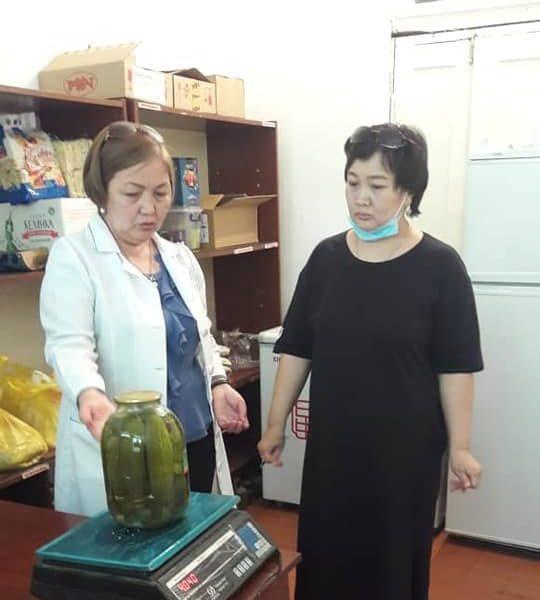 Проверка на наличие продуктов питания в детских садах г.Кара-Балта